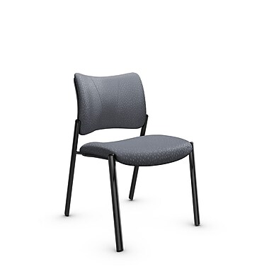 Global Zoma Designer Side Chair, Match, Grey Fabric, Grey