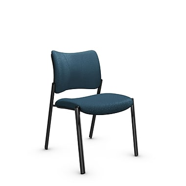 Global Zoma Designer Side Chair, Match, Arctic Fabric, Blue