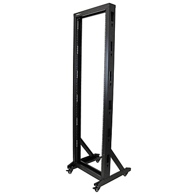 StarTech.com 2-Post Server Rack with Casters, 42U