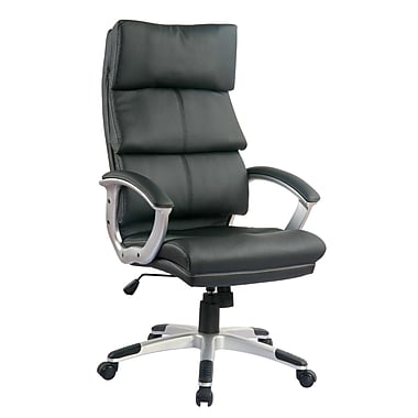 TygerClaw Modern High Back Leather Office Chair, 14.6