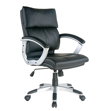TygerClaw Mid Back Leather Office Chair, 24.4