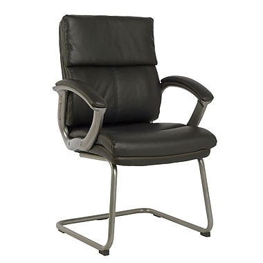 TygerClaw Modern High Back Leather Office Chair, 21.7