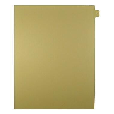 Mark Maker – Onglets séparateurs juridiques beiges, 1/15 onglets, format lettre, sans trous, numéro 1, 25/paquet