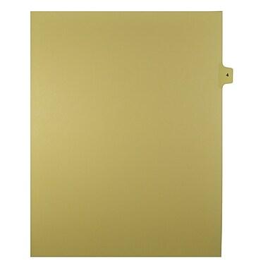 Mark Maker – Onglets séparateurs juridiques beiges, 1/15 onglets, format lettre, sans trous, numéro 4, 25/paquet