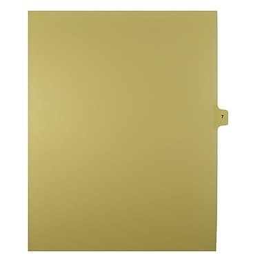 Mark Maker – Onglets séparateurs juridiques beiges, 1/15 onglets, format lettre, sans trous, numéro 7, 25/paquet