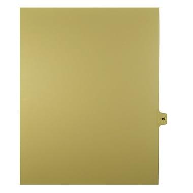 Mark Maker – Onglets séparateurs juridiques beiges, 1/15 onglets, format lettre, sans trous, numéro 10, 25/paquet