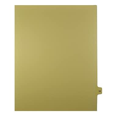 Mark Maker – Onglets séparateurs juridiques beiges, 1/15 onglets, format lettre, sans trous, numéro 13, 25/paquet