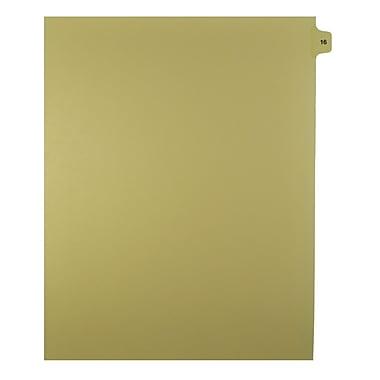 Mark Maker – Onglets séparateurs juridiques beiges, 1/15 onglets, format lettre, sans trous, numéro 16, 25/paquet