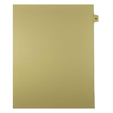 Mark Maker – Onglets séparateurs juridiques beiges, 1/15 onglets, format lettre, sans trous, numéro 32, 25/paquet