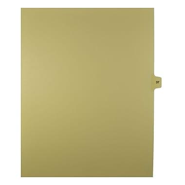 Mark Maker – Onglets séparateurs juridiques beiges, 1/15 onglets, format lettre, sans trous, numéro 37, 25/paquet