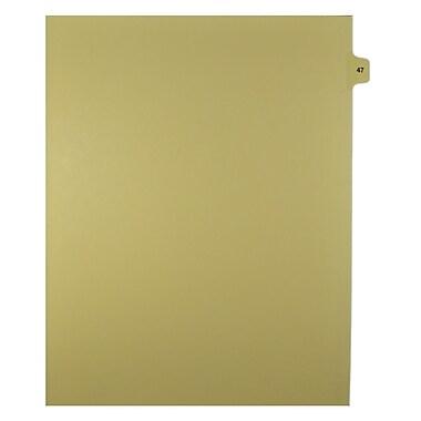Mark Maker – Onglets séparateurs juridiques beiges, 1/15 onglets, format lettre, sans trous, numéro 47, 25/paquet