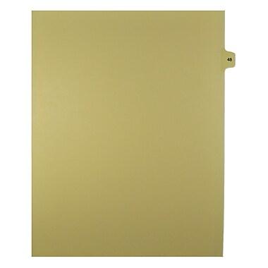 Mark Maker – Onglets séparateurs juridiques beiges, 1/15 onglets, format lettre, sans trous, numéro 48, 25/paquet