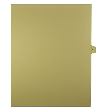 Mark Maker – Onglets séparateurs juridiques beiges, 1/15 onglets, format lettre, sans trous, numéro 52, 25/paquet
