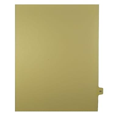 Mark Maker – Onglets séparateurs juridiques beiges, 1/15 onglets, format lettre, sans trous, numéro 58, 25/paquet
