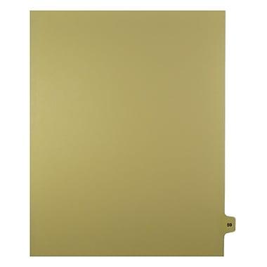 Mark Maker – Onglets séparateurs juridiques beiges, 1/15 onglets, format lettre, sans trous, numéro 59, 25/paquet
