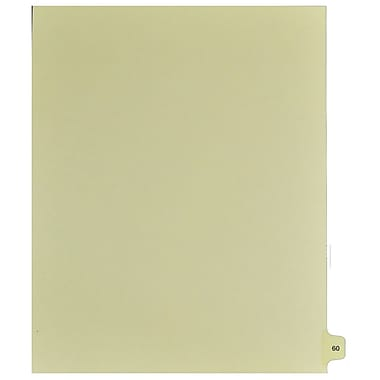 Mark Maker Legal Exhibit Index Tab Buff Single Tabs, 1/15th Cut, Letter Size, No Holes, Number 60, 25/Pack