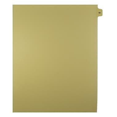 Mark Maker – Onglets séparateurs juridiques beiges, 1/15 onglets, format lettre, sans trous, numéros 61 à 80, 25/paquet