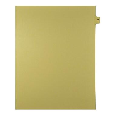 Mark Maker – Onglets séparateurs juridiques beiges, 1/15 onglets, format lettre, sans trous, numéro 77, 25/paquet