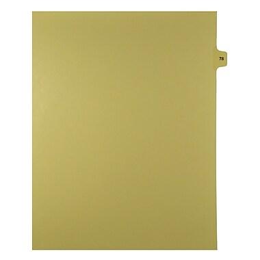 Mark Maker – Onglets séparateurs juridiques beiges, 1/15 onglets, format lettre, sans trous, numéro 78, 25/paquet