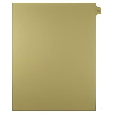Mark Maker – Onglets séparateurs juridiques beiges, 1/15 onglets, format lettre, sans trous, numéro 91, 25/paquet