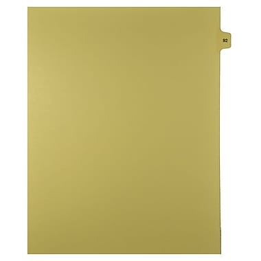 Mark Maker Legal Exhibit Index Tab Buff Single Tabs, 1/15th Cut, Letter Size, No Holes, Number 92, 25/Pack
