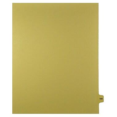 Mark Maker – Onglets séparateurs juridiques beiges, 1/15 onglets, format lettre, sans trous, numéro 104, 25/paquet