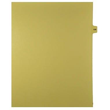 Mark Maker – Onglets séparateurs juridiques beiges, 1/15 onglets, format lettre, sans trous, numéro 109, 25/paquet