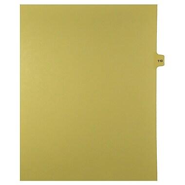 Mark Maker – Onglets séparateurs juridiques beiges, 1/15 onglets, format lettre, sans trous, numéro 110, 25/paquet