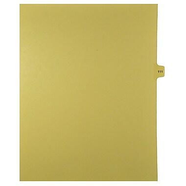 Mark Maker – Onglets séparateurs juridiques beiges, 1/15 onglets, format lettre, sans trous, numéro 111, 25/paquet