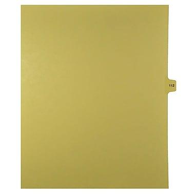 Mark Maker – Onglets séparateurs juridiques beiges, 1/15 onglets, format lettre, sans trous, numéro 112, 25/paquet