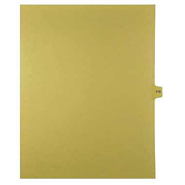 Mark Maker – Onglets séparateurs juridiques beiges, 1/15 onglets, format lettre, sans trous, numéro 113, 25/paquet
