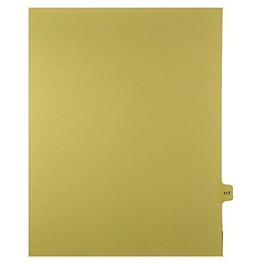 Mark Maker – Onglets séparateurs juridiques beiges, 1/15 onglets, format lettre, sans trous, numéro 117, 25/paquet