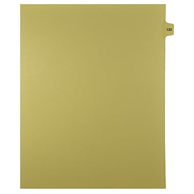 Mark Maker Legal Exhibit Index Tab Buff Single Tabs, 1/15th Cut, Letter Size, No Holes, Number 122, 25/Pack