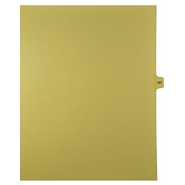 Mark Maker Legal Exhibit Index Tab Buff Single Tabs, 1/15th Cut, Letter Size, No Holes, Number 127, 25/Pack