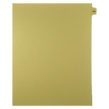 Mark Maker – Onglets séparateurs juridiques beiges, 1/15 onglets, format lettre, sans trous, numéro 136, 25/paquet
