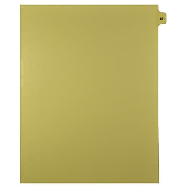 Mark Maker Legal Exhibit Index Tab Buff Single Tabs, 1/15th Cut, Letter Size, No Holes, Number 151, 25/Pack