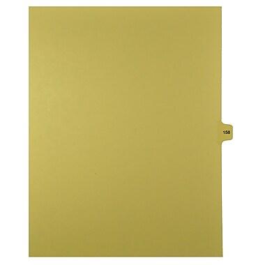 Mark Maker – Onglets séparateurs juridiques beiges, 1/15 onglets, format lettre, sans trous, numéro 158, 25/paquet