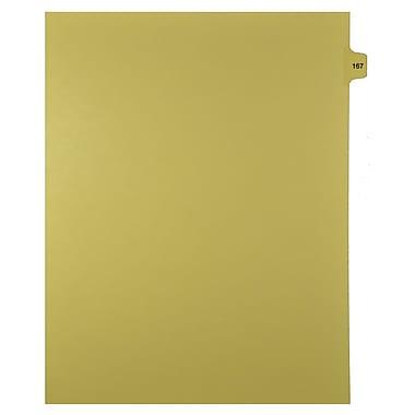 Mark Maker – Onglets séparateurs juridiques beiges, 1/15 onglets, format lettre, sans trous, numéro 167, 25/paquet