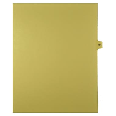 Mark Maker Legal Exhibit Index Tab Buff Single Tabs, 1/15th Cut, Letter Size, No Holes, Number 171, 25/Pack