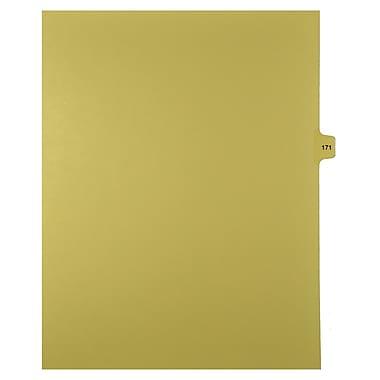 Mark Maker – Onglets séparateurs juridiques beiges, 1/15 onglets, format lettre, sans trous, numéro 171, 25/paquet