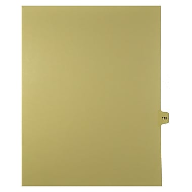 Mark Maker – Onglets séparateurs juridiques beiges, 1/15 onglets, format lettre, sans trous, numéro 175, 25/paquet