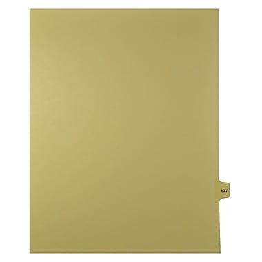 Mark Maker – Onglets séparateurs juridiques beiges, 1/15 onglets, format lettre, sans trous, numéro 177, 25/paquet