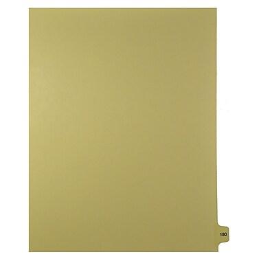 Mark Maker – Onglets séparateurs juridiques beiges, 1/15 onglets, format lettre, sans trous, numéro 180, 25/paquet