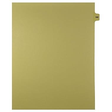 Mark Maker – Onglets séparateurs juridiques beiges, 1/15 onglets, format lettre, sans trous, numéro 182, 25/paquet