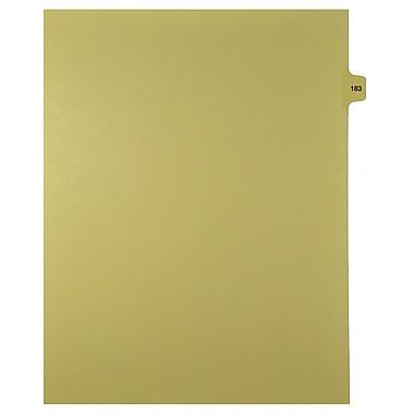 Mark Maker – Onglets séparateurs juridiques beiges, 1/15 onglets, format lettre, sans trous, numéro 183, 25/paquet