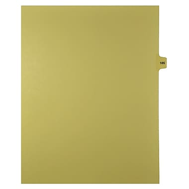 Mark Maker Legal Exhibit Index Tab Buff Single Tabs, 1/15th Cut, Letter Size, No Holes, Number 185, 25/Pack