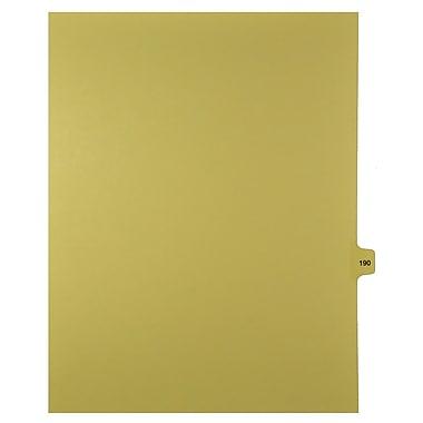 Mark Maker – Onglets séparateurs juridiques beiges, 1/15 onglets, format lettre, sans trous, numéro 190, 25/paquet
