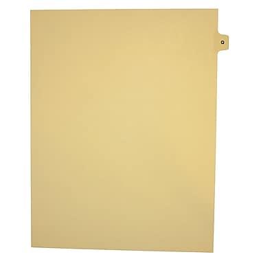 Mark Maker – Onglets séparateurs juridiques beiges, 1/15 onglets, format lettre, sans trous, lettre Q, 25/paquet