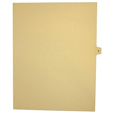 Mark Maker – Onglets séparateurs juridiques beiges, 1/15 onglets, format lettre, sans trous, lettre V, 25/paquet