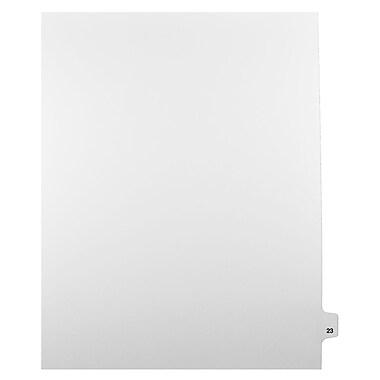 Mark Maker – Onglets séparateurs juridiques blancs, 1/25 onglets, format lettre, sans trous, numéro 23, 25/paquet